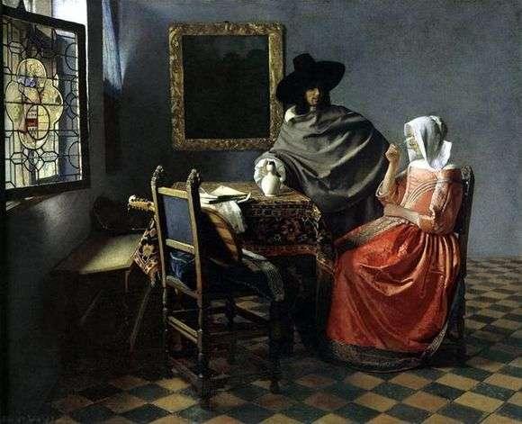 Описание картины Яна Вермеера «Бокал вина»