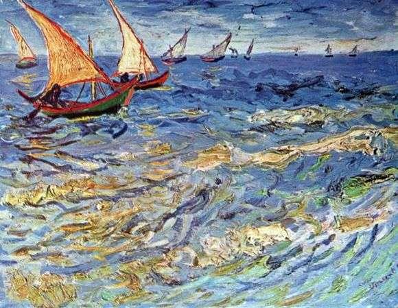 Описание картины Винсента Ван Гога «Море в Сент Марье»