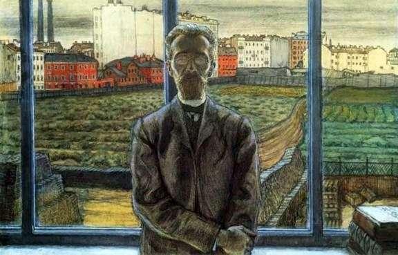 Описание картины Мстислава Добужинского «Человек в очках»