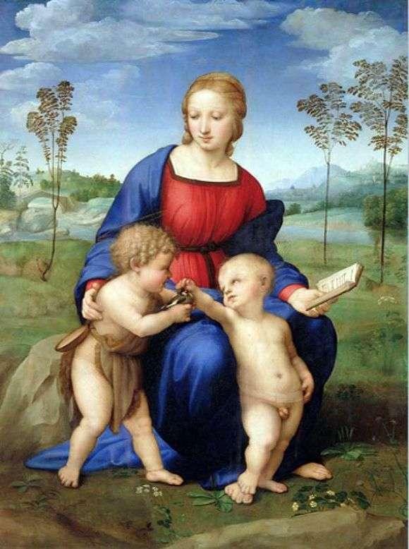 Описание картины Рафаэля Санти «Мадонна с щегленком»