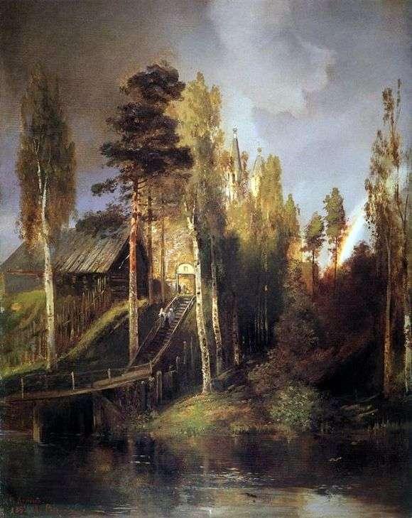 Описание картины Алексея Саврасова «У ворот монастыря»