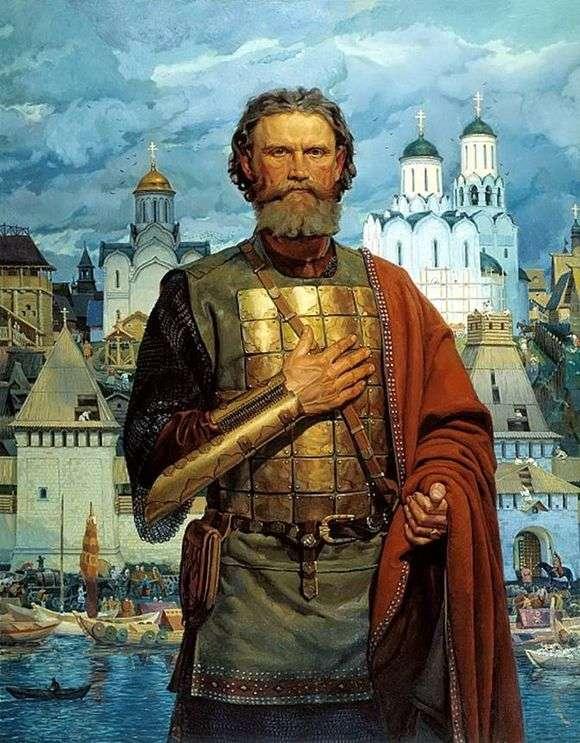 Описание картины Виктора Маторина «Дмитрий Донской»