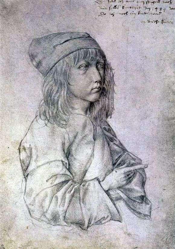 Описание картины Альбрехта Дюрера «Автопортрет в 13лет»