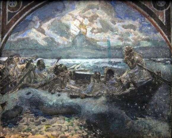 Описание картины Михаила Врубеля «Хождение по водам»