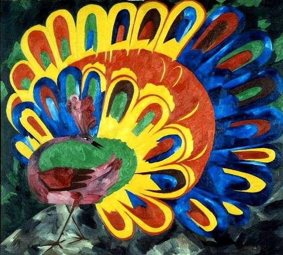 Описание картины Натальи Гончаровой «Павлин под ярким солнцем»