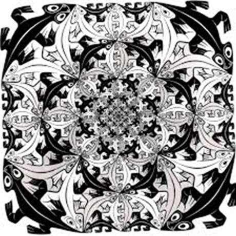 Описание картины Маурица Эшера «Мозаика»