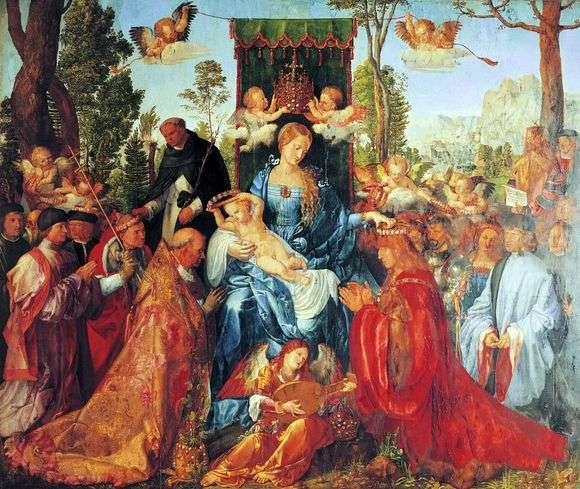 Описание картины Альбрехта Дюрера «Праздник четок»