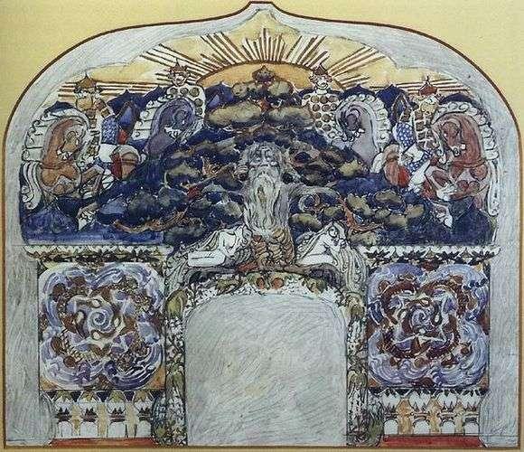 Описание картины Михаила Врубеля «Эскиз камина»
