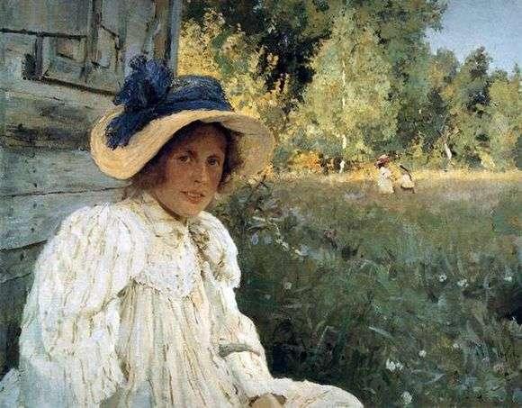 Описание картины Валентина Серова «Летом» (Портрет О. Серовой)