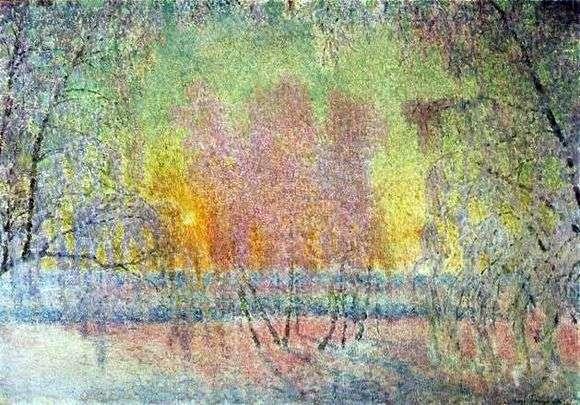 Описание картины Игоря Грабаря «Сказка инея и восходящего солнца»