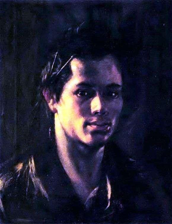 Описание картины Ореста Кипренского «Автопортрет с кистями за ухом»