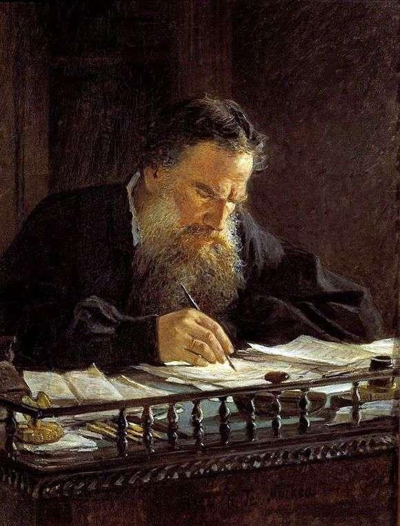 Описание картины Николая Ге «Портрет Л. Н. Толстого»