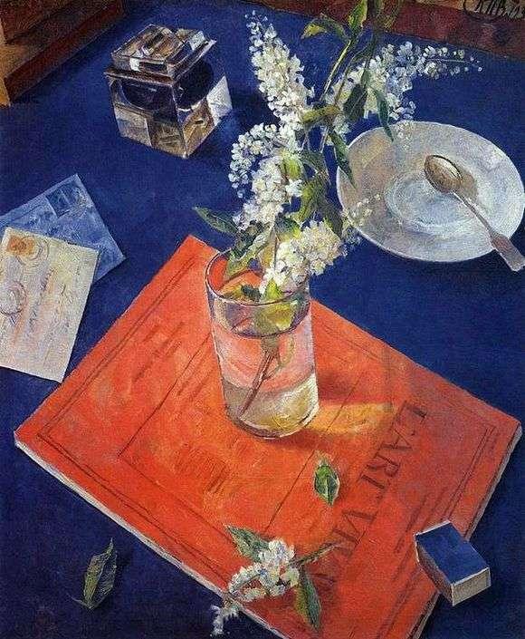 Описание картины Кузьмы Петрова Водкина «Черемуха в стакане»