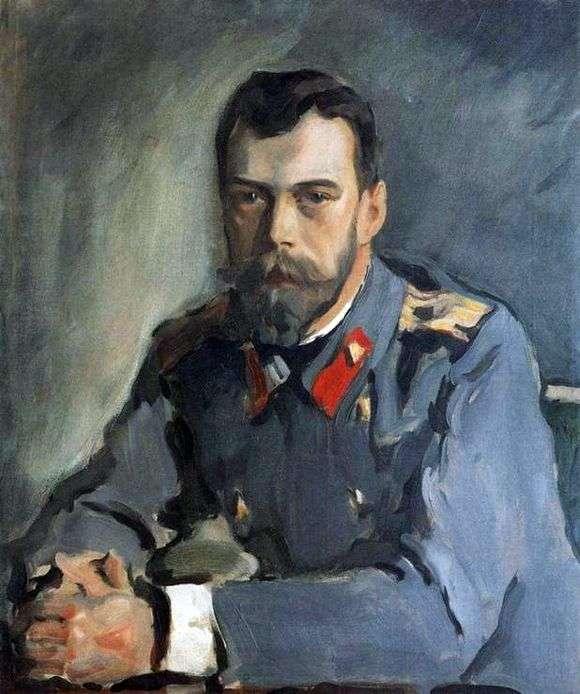 Описание картины Валентина Серова «Портрет императора Николая II»