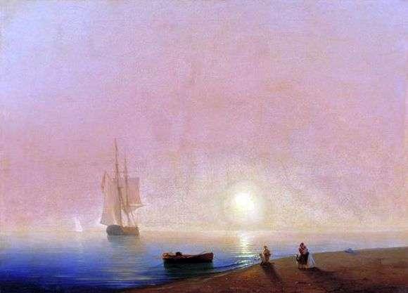 Описание картины Ивана Айвазовского «Прощание»
