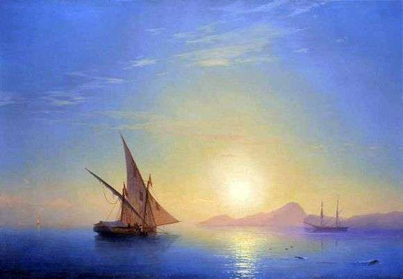 Описание картины Ивана Айвазовского «Закат над Искьей»