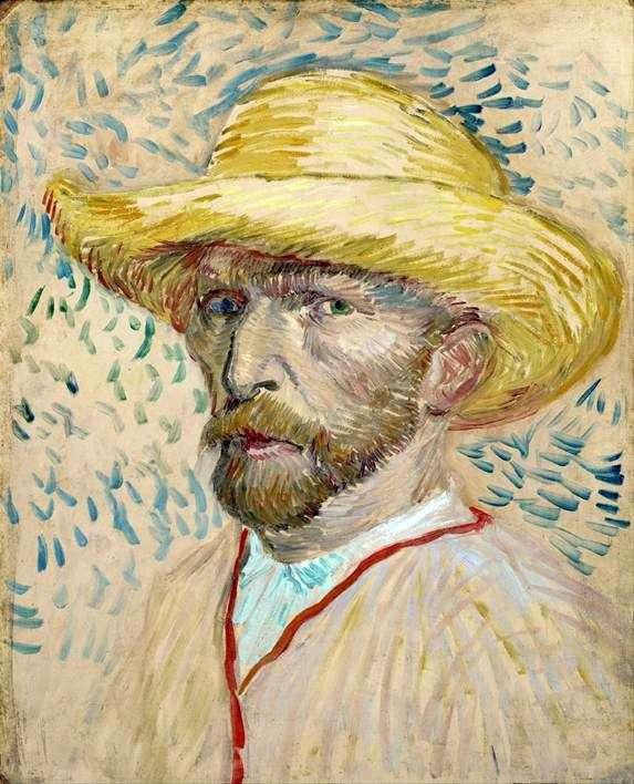 Описание картины Винсента Ван Гога «Автопортрет в соломенной шляпе»