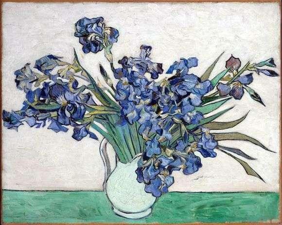 Описание картины Винсента Ван Гога «Ваза с ирисами»