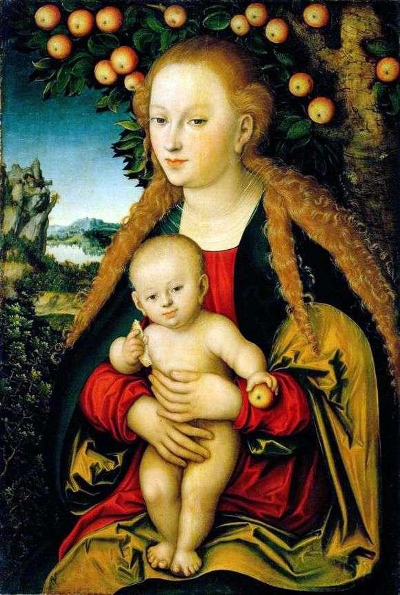 Описание картины Лукаса Кранаха «Мадонна с младенцем»