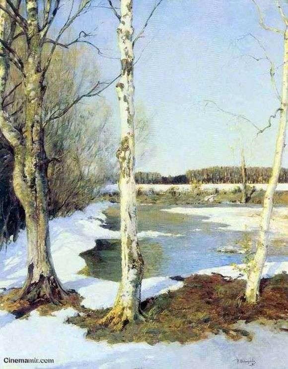 Описание картины Ильи Остроухова «Ранняя весна»
