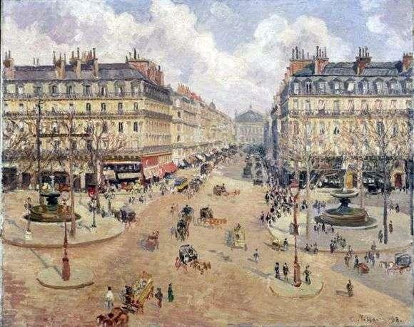 Описание картины Камиля Писсарро «Оперный проезд в Париже»