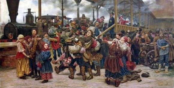 Описание картины Константина Савицкого «На войну»