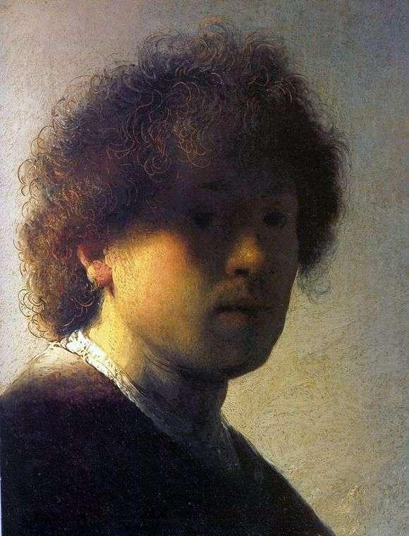 Описание картины Рембрандта «Автопортрет в молодости»