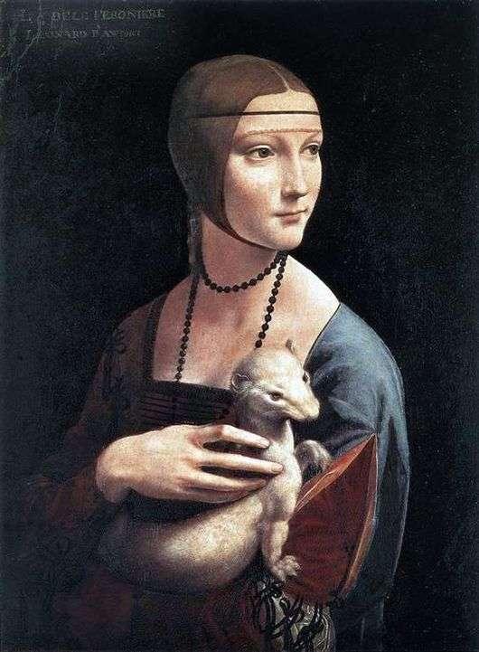 Описание картины Леонардо да Винчи «Дама с горностаем »