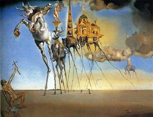 Описание картины Сальвадора Дали «Искушение Святого Антония»