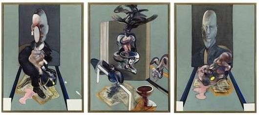 Описание триптиха Фрэнсиса Бэкона «Три этюда Люсьена Фрейда»