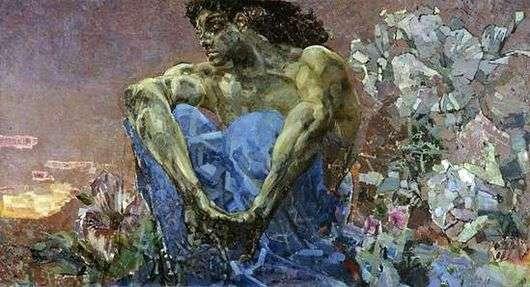 Описание картины Михаила Врубеля «Демон сидящий»