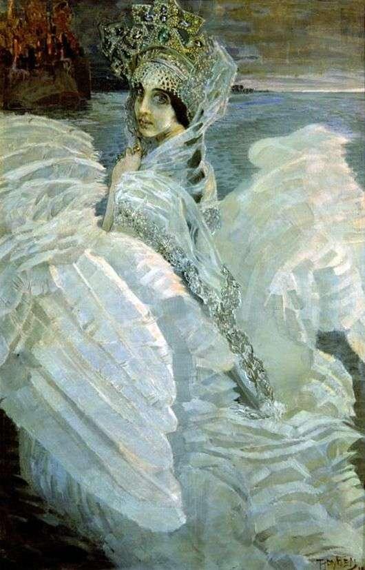 Описание картины Михаила Врубеля «Царевна Лебедь»