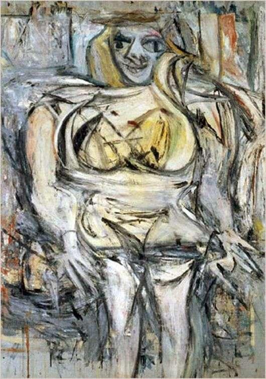 Описание картины Виллема де Кунинга «Женщина 3»