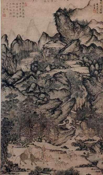 Описание картины Вана Мэна «Переселение Жичуана»