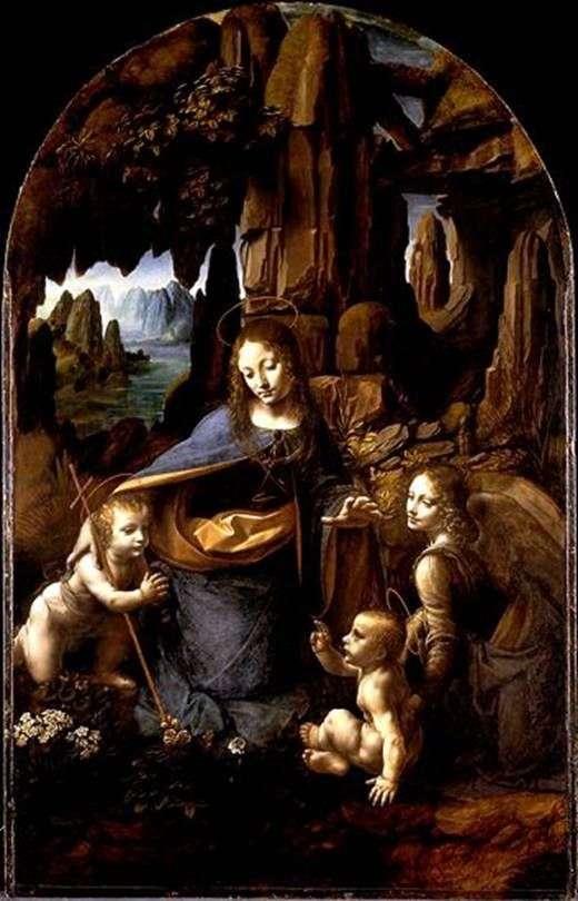 Описание картины Леонардо да Винчи Мадонна в гроте (Мадонна в скалах)