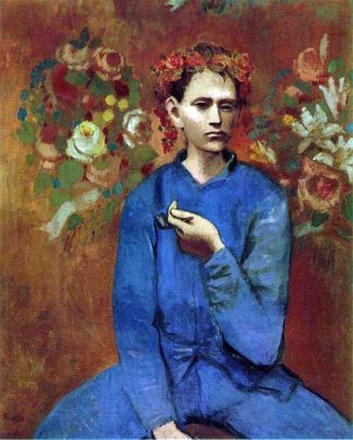 Описание картины Пабло Пикассо «Мальчик с трубкой»