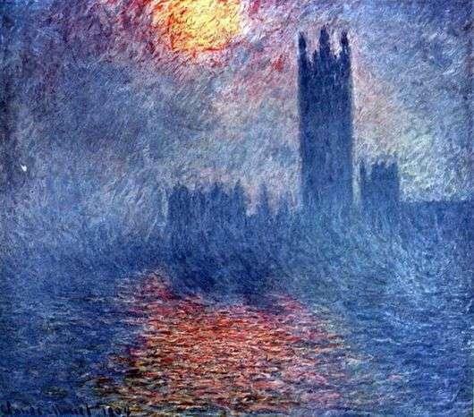 Описание серии картин Клода Моне «Парламент в Лондоне»