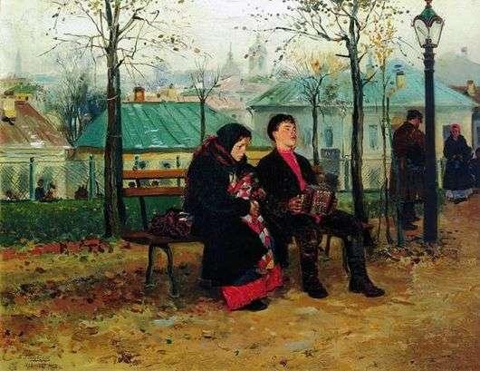 Описание картины Владимира Маковского «На бульваре»