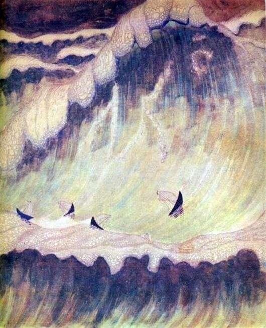 Описание картин Микалоюса Чюрлениса «Соната моря»