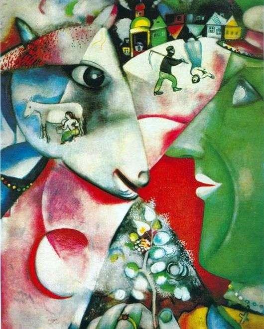 Описание картины Марка Шагала «Я и Деревня»