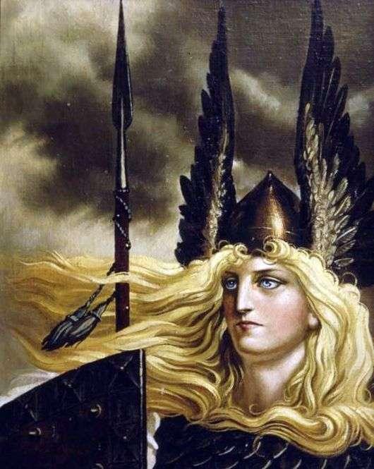 Описание картины Константина Васильева «Валькирия»