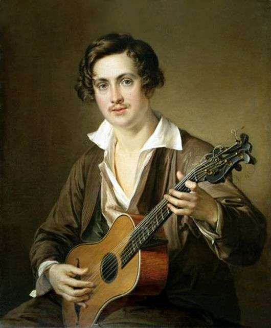 Описание картины Василия Тропинина «Гитарист»