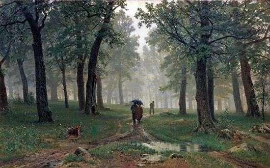 Описание картины Ивана Шишкина «Дождь в дубовом лесу»