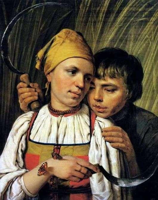 Описание картины Алексея Венецианова «Жнецы»