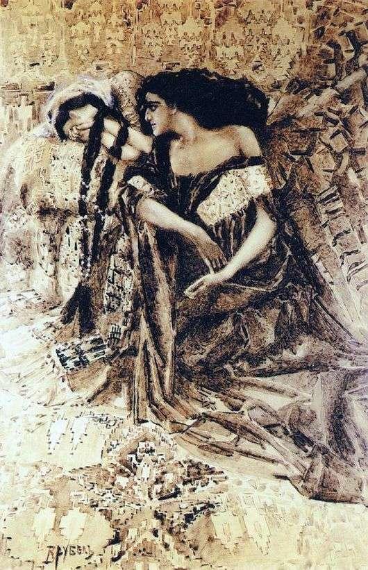 Описание картины Михаила Врубеля «Тамара и Демон»