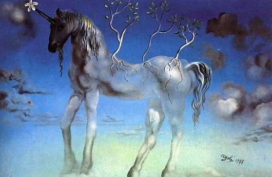 Описание картины Сальвадора Дали «Единорог»