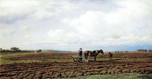 Описание картины Михаила Клодта «На пашне»