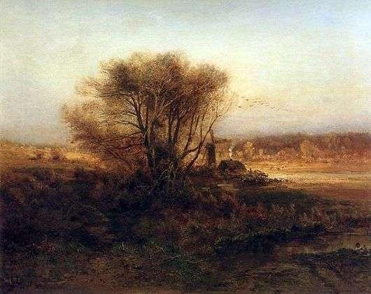 Описание картины Алексея Саврасова «Осень»