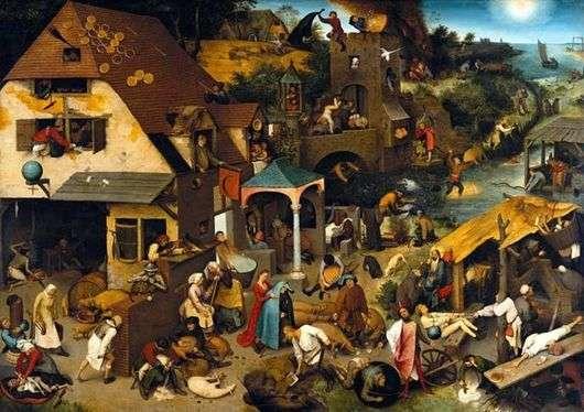 Описание картины Питера Брейгеля Старшего «Нидерландские пословицы»