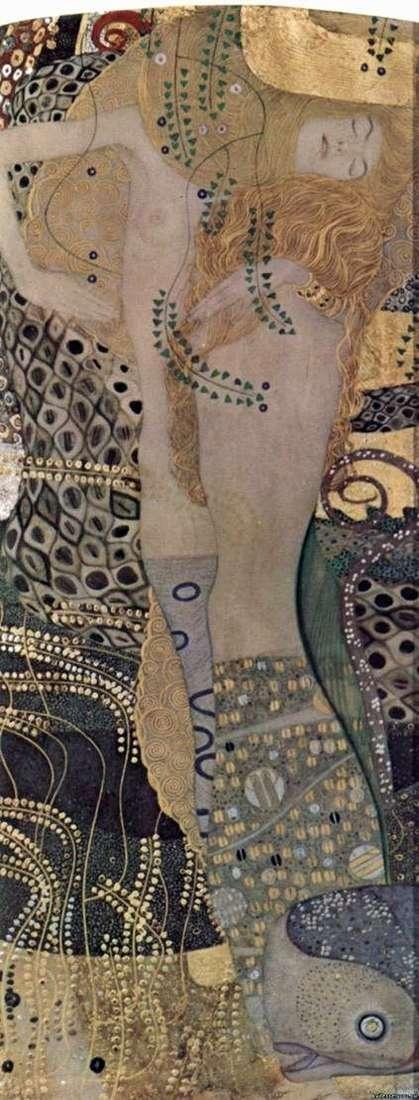 Описание картины Климта Густава «Водяные змеи»